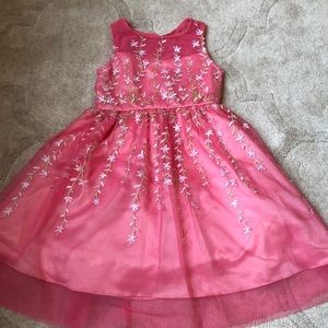 Size 5 floral spring dress pink sleeveless